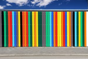 multicolor-painted-fence