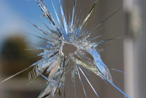 bulletproof glass schools bullet hole