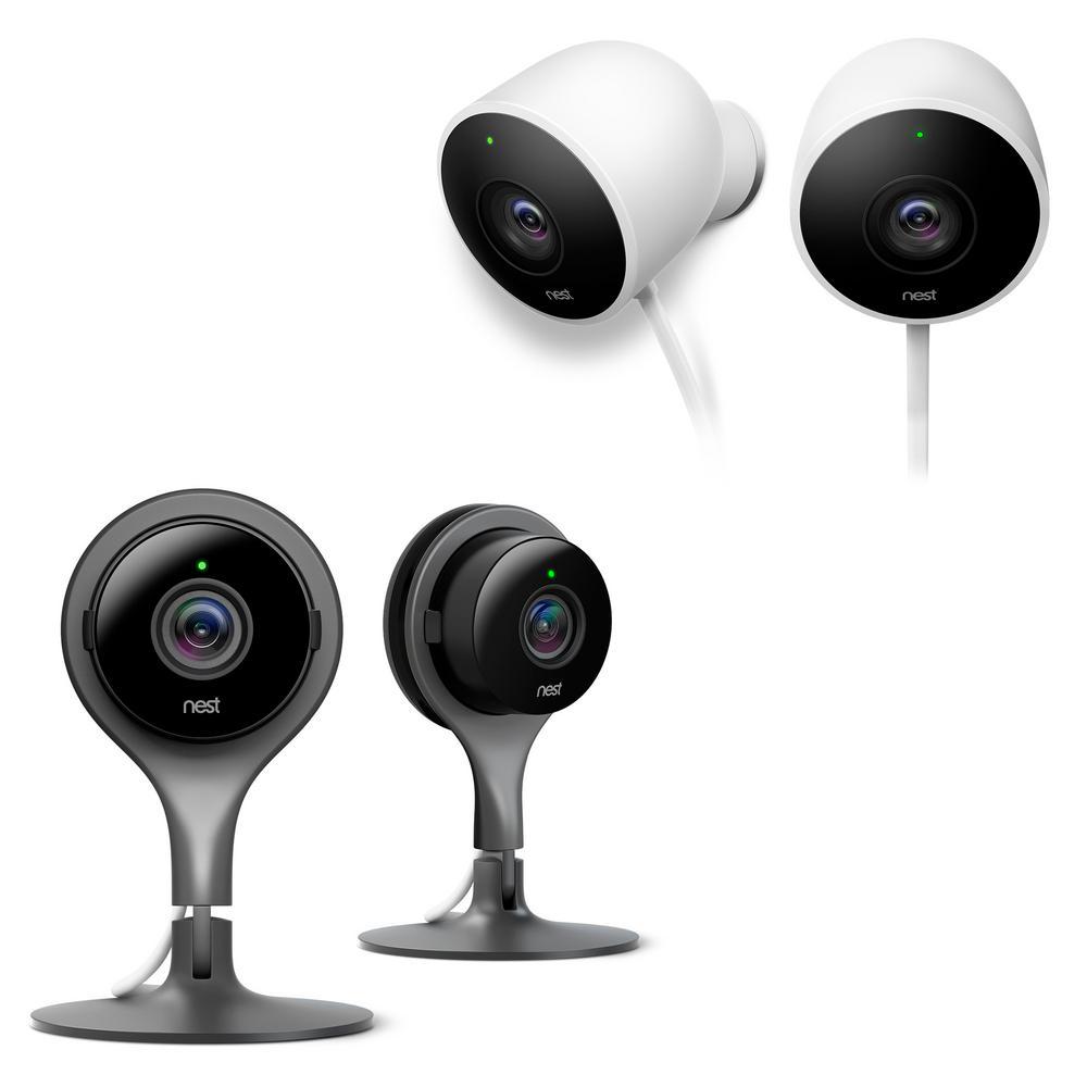 google nest indoor outdoor cameras