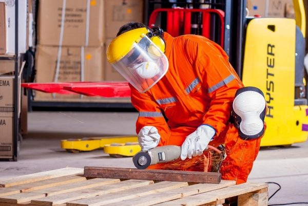 face shield eye protection workplace injury
